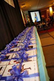 The awards were lined up and ready to hand out.
