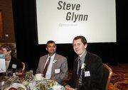 (From left) 40 Under 40 winnersSunil Kanchi of Kanchi Technologies and Justin Aprahamian of Sanford Restaurant.