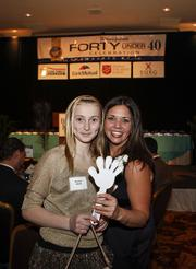 (From left) Brenna Wells and 40 Under 40 winner Nicole Wells of Wheaton Francisan Healthcare-St. Joseph Women's Outpatient Center