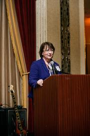 Yvonne Stueber, executive director of United Cerebral Palsy Southeastern Wisconsin, addressed the crowd