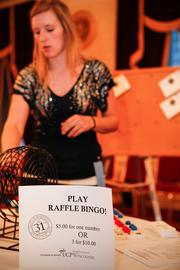 A raffle bingo game was part of the event.