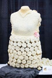 """The cup cake dress took first place in the """"Cupcake Warrior Championship."""""""