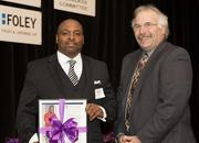 (Left) Benjamin Clark, owner of GSI General Inc., which was honored in the small company category.