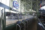 Other improvements for the upcoming season are the Miller Lite Party Deck, which was built above the right-field loge seats.
