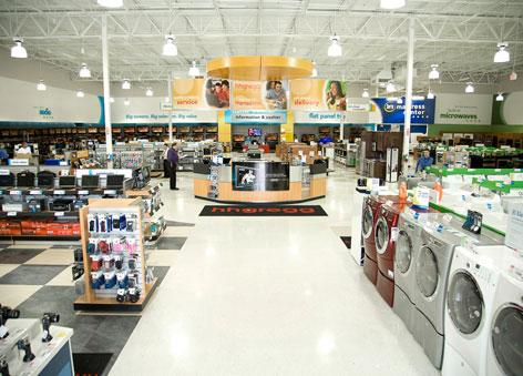HHGregg (NYSE: HGG) offers a range of home appliances and electronics.