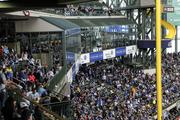 The Johnson Controls Stadium Club was full for the game.