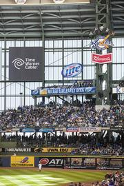 The Miller Lite party deck is a new addition to Miller Park for this season.