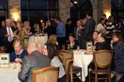 Several hundred business executives attended the event.