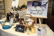 A wine and chocolate raffle drew a lot of interest.