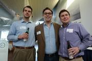 (From left) Ben Pickering of Pinstripe Inc., Mitch Bartel of MillerCoors and Mike Ordman of Xylem Water Solutions.