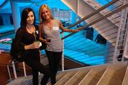 (From left) Carly Statza of Life Corp. and Maggie Dunn of Rokkin