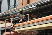 Exterior construction is still under way.