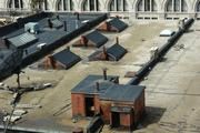 There's also sights of the rooftops of buildings on the east side of North Broadway in Milwaukee.
