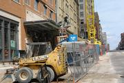 The vacant Pioneer Building at 625 N. Milwaukee St.was demolished for the hotel project.