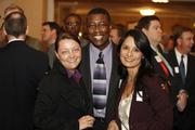 (From left) Shelley Wadzinski, Carl Carby and Lita Saldivar, all of Time Warner Business Class
