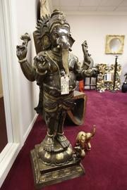A bronze Ganesha, which retails for $15,000.