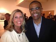 (From left) Patty Cadorin of BMO Harris and Mark Thomas ofSojourner Family Peace Center