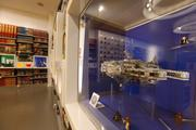 Already built Lego models are located throughout the store.