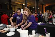 Workers from Purple Door Ice Cream in Milwaukee handed out samples.