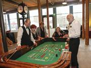 Guests played casino games.