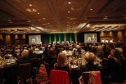 The ballroom at the Hyatt was packed for the event.