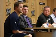 (At left) Milwaukee Brewers pitcher Chris Narveson talks about how he recently started using Twitter.