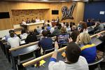 Slideshow: Sports and social media invade Miller Park