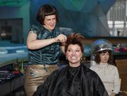 Tracy Gundy of The Shoppe gave hair styling demonstrations.