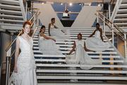 Models show off some of the latest designs during the fashion show.