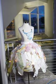 One of the unique dresses on display.