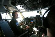 Lt Col. Frank Alvarez, one of the two pilots, on the flight.