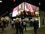 The booth of CBRE, which has a large real estate brokerage in Milwaukee.