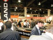 Retail and real estate executives network at the event.