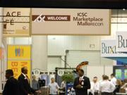 The convention is set up in a shopping mall format to allow developers and retailers to interact.