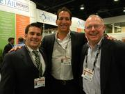 (From left) Mark Wussow of Commercial Property Associates Inc., Gino Carini of Marenzo Construction Group and Thomas Hagedorn of Commercial Property Associates at the Commercial Property Associates happy hour party at the ICSC.