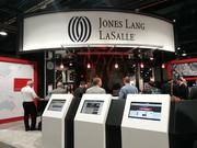 The Jones Lang LaSalle booth at the ICSC.