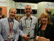 (From left) Ross Koepsel of Commercial Property Associates, Kevin Hannan of Siegel-Gallagher Inc., and Lori Kraemer of Siegel-Gallagher Inc.
