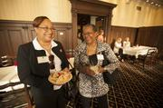 (From left) Faith Colas of the Salvation Army and Jeanette Mitchell of Cardinal Stritch University Leadership Center