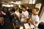 Slideshow: Southwest passengers surprised by Milwaukee Brewers players