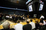 More than 100 people attended the announcement at the Bradley Center.