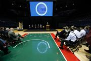 The event was held on the Milwaukee Bucks court at the Bradley Center.