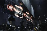 It took about six hours for the band's road crew to set up the massive stage and lights, including the robotic video screens that were invented by Milwaukee native Andy Flessas.