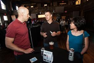 From left, Matt Terski of Serlio Software, Lee Patty of Pictification and Kun Wang of Markel