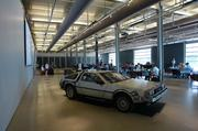 """The event featured the classic DeLorean car associated with the time machine from the """"Back to the Future"""" films."""