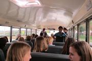 Guitarist Bryan Cherry serenaded the tour group on the bus between stops.
