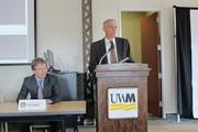 UWM chancellor Mike Lovell, standing next to Abele, said 54 percent of the Millenial generation want to work for themselves or start their own company.