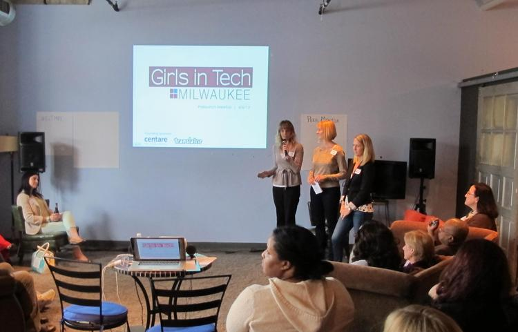 Supporters gathered at Translator Thursday night for the preliminary launch of a local Girls in Tech chapter.