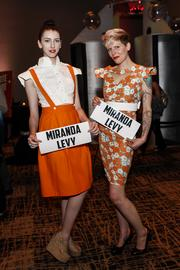 Models showed off the latest designs by Milwaukee designer Miranda Levy.