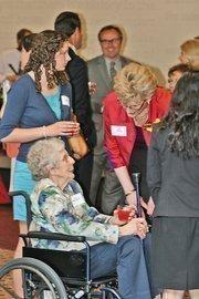 (Center) Ann Murphy, Quarles & Brady LLP, a Women of Influence winner