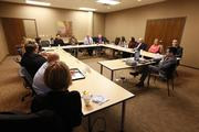 Eleven Forty under 40 winners attended the meeting at The Business Journal's office.